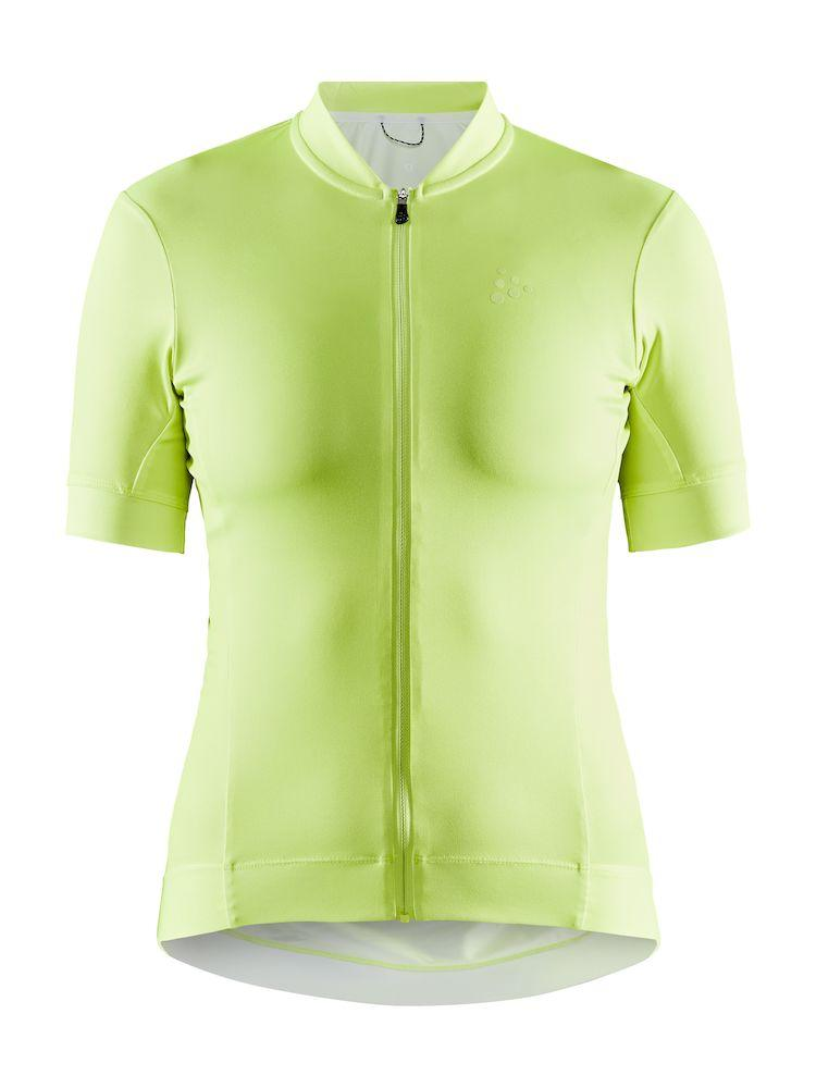 Craft Fietsshirt Korte Mouwen Dames Lime - ESSENCE JERSEY W SNAP