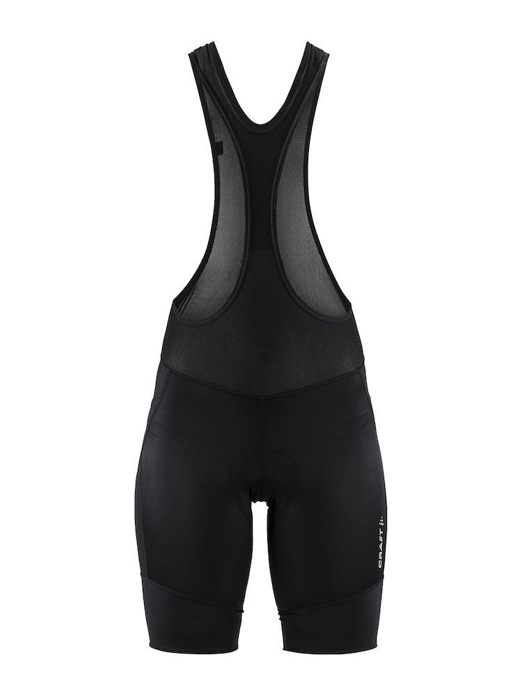 Craft Fietsbroek met bretels - koersbroek Dames Zwart Zilver / ESSENCE BIB SHORTS W BLACK/SILVER