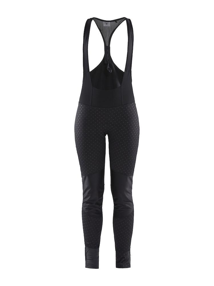 Afbeelding Craft Fietsbroek lang met zeem Winddicht Dames Zwart Bordeaux / IDEAL PRO WIND BIB TIGHTS PAD W BLACK/P INTERSECT