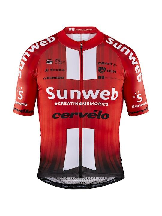 Craft Fietsshirt korte mouwen Heren Rood Wit / TEAM SUNWEB AEROLIGHT JERSEY M TEAM SUNWEB RED