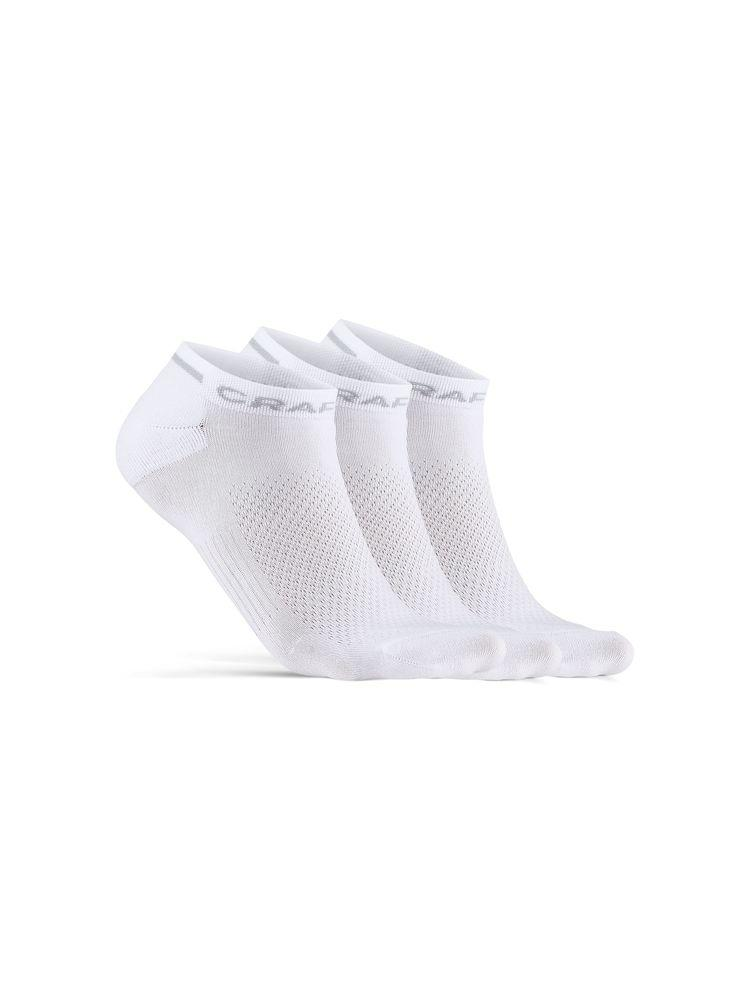 Craft Fietssokken zomer Unisex Wit - CORE DRY SHAFLESS SOCK 3-PACK WHITE