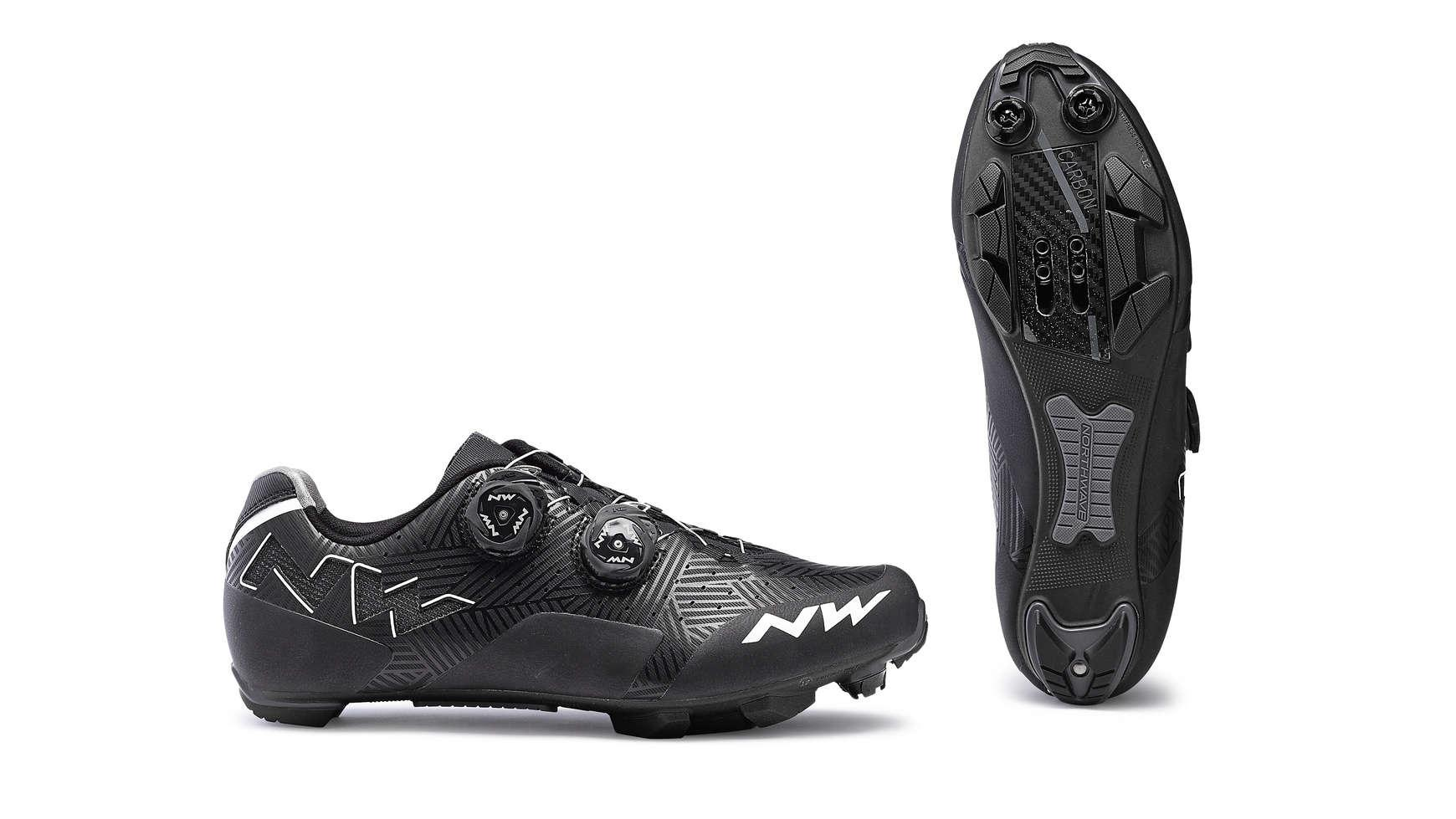 Afbeelding Northwave Race fietsschoenen Dames Zwart Wit /  REBEL WOMAN BLACK/WHITE