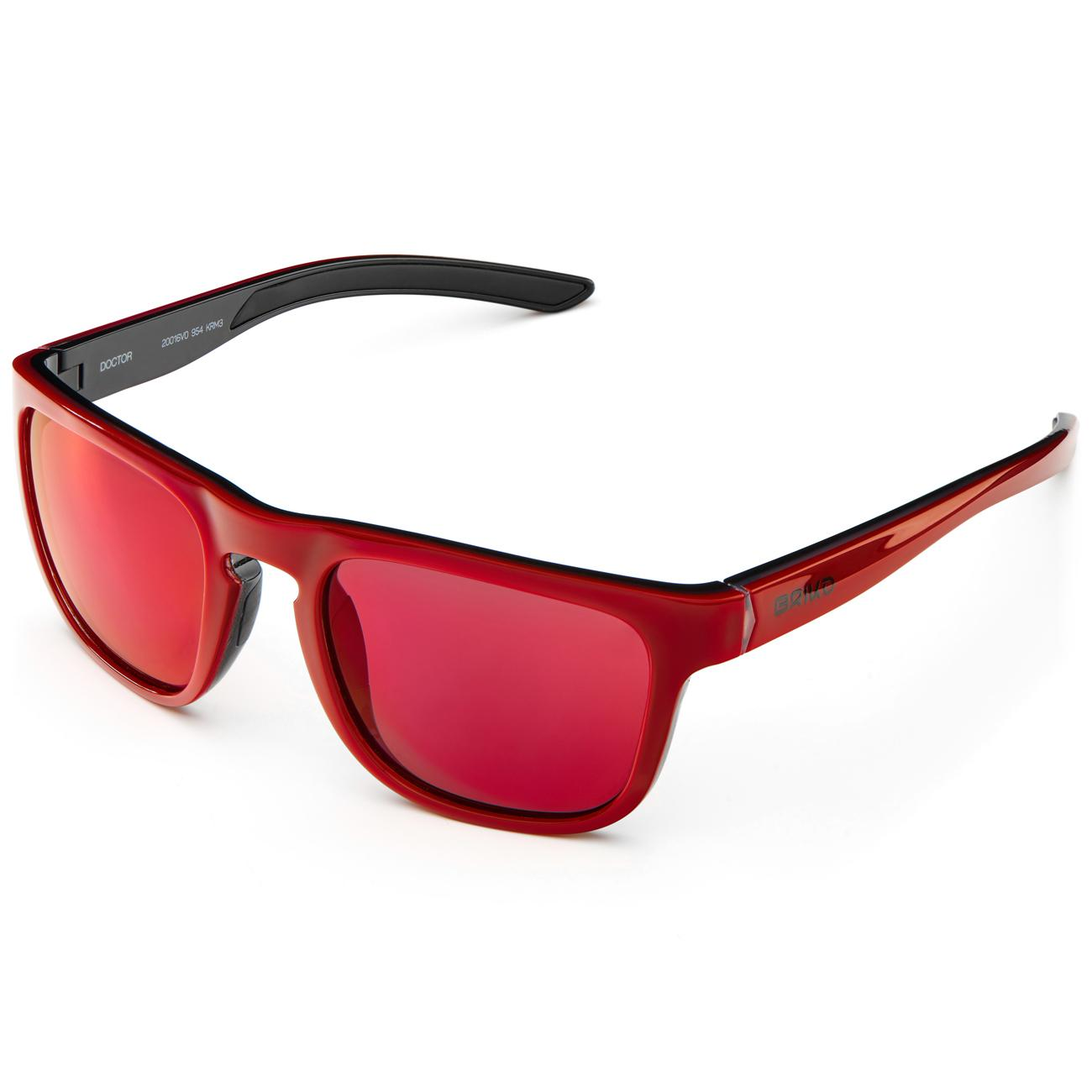 Afbeelding Briko Casual zonnebril unisex Rood - Doctor Mirror Color HD Sunglasses Sh Mt Cry Red -Krm3