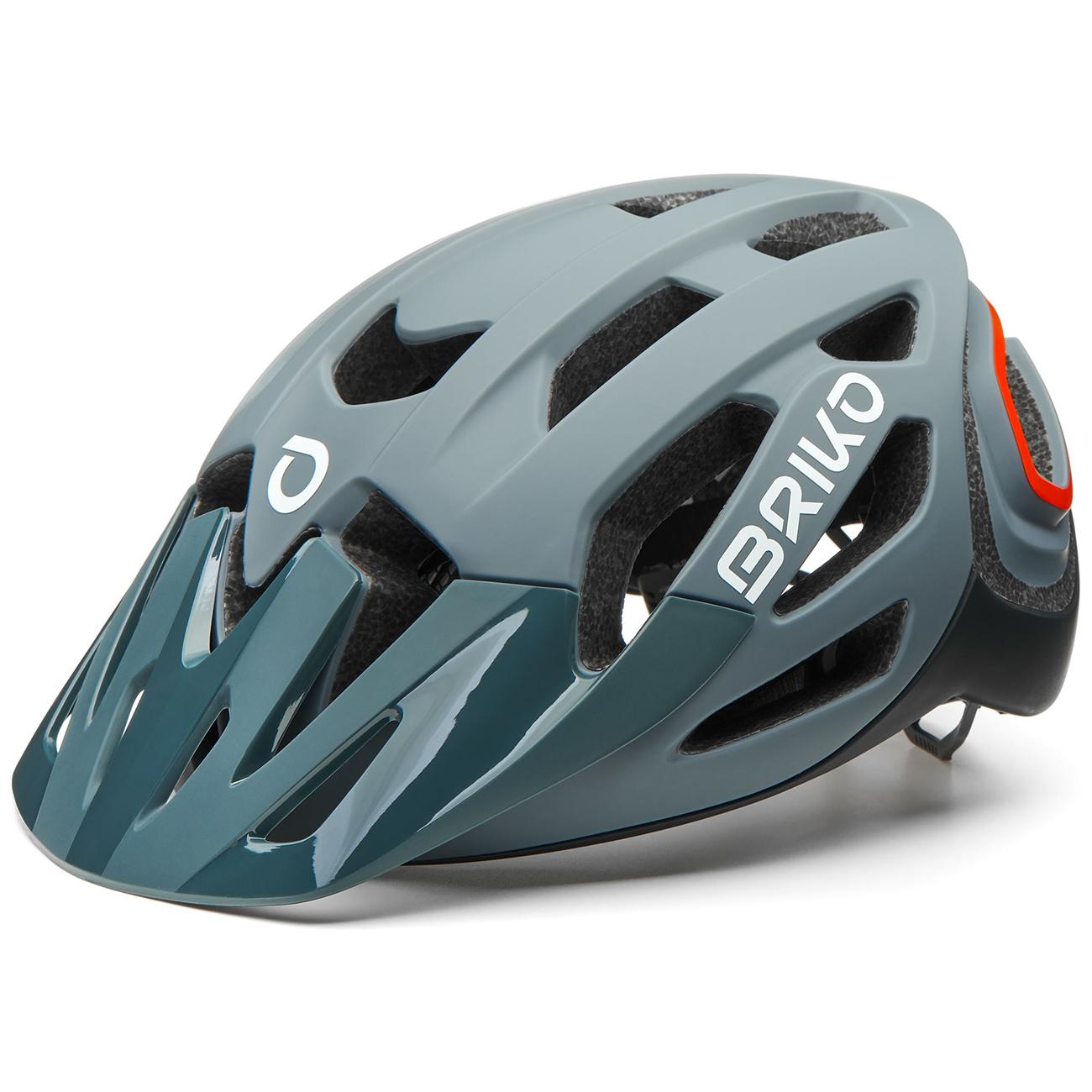 Briko Fietshelm MTB unisex Grijs Oranje - Sismic Bike Helmet Matt Dark Grey Orange Fluo