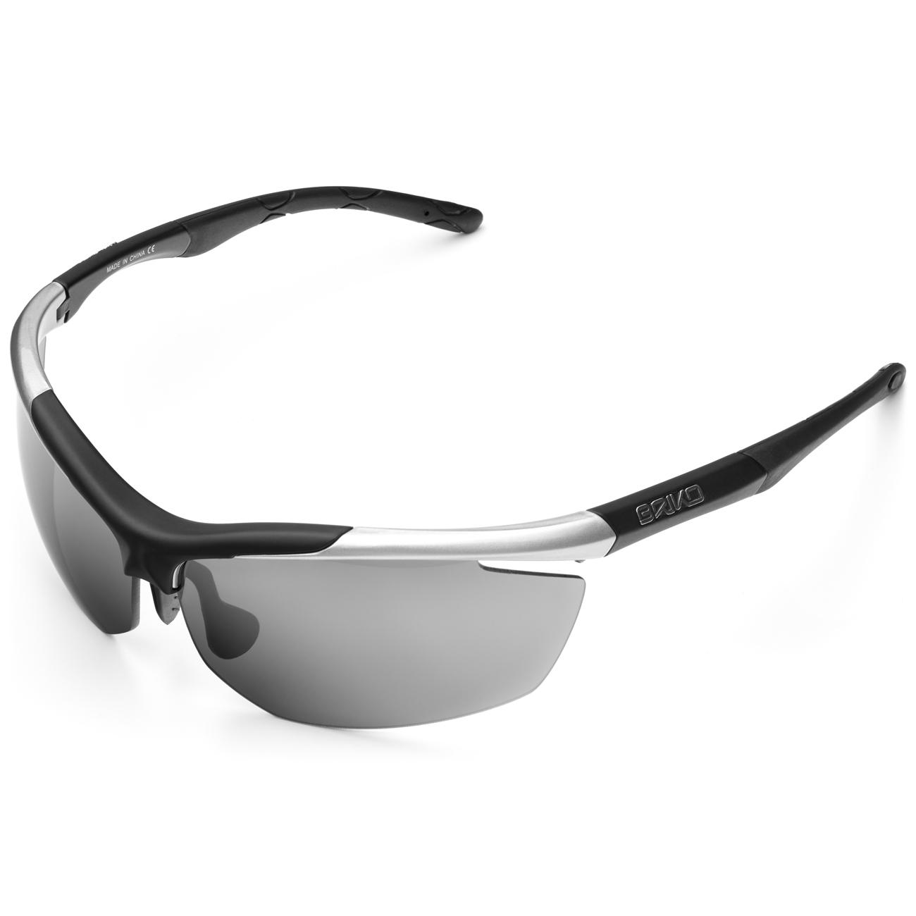 Briko Fiets zonnebril unisex Zilver Zwart - Trident Glasses With 2 Lenses Silver BLK- SM3TO