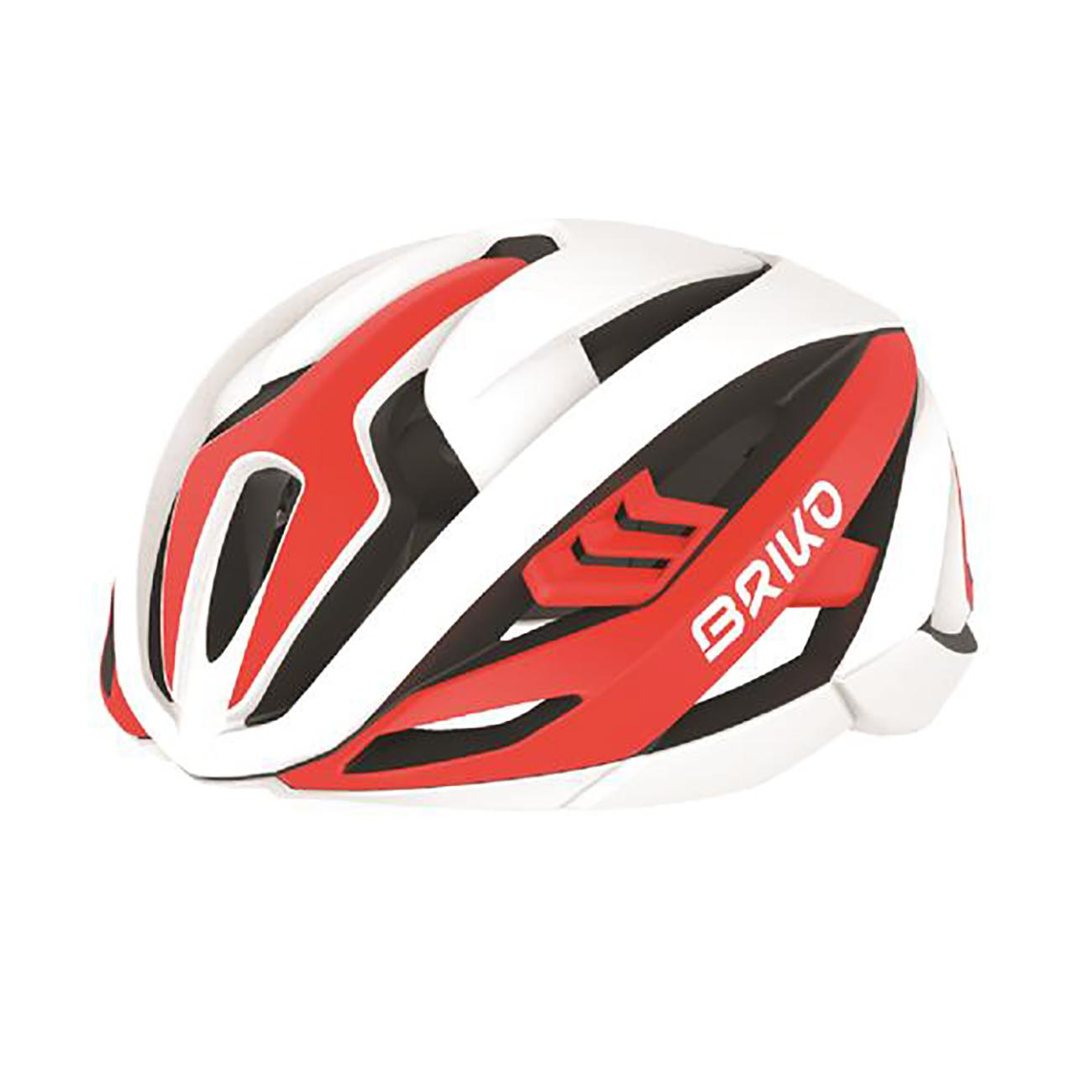 | Briko Fietshelm Race unisex Rood Wit - Quasar Bike Helmet Shiny Red White