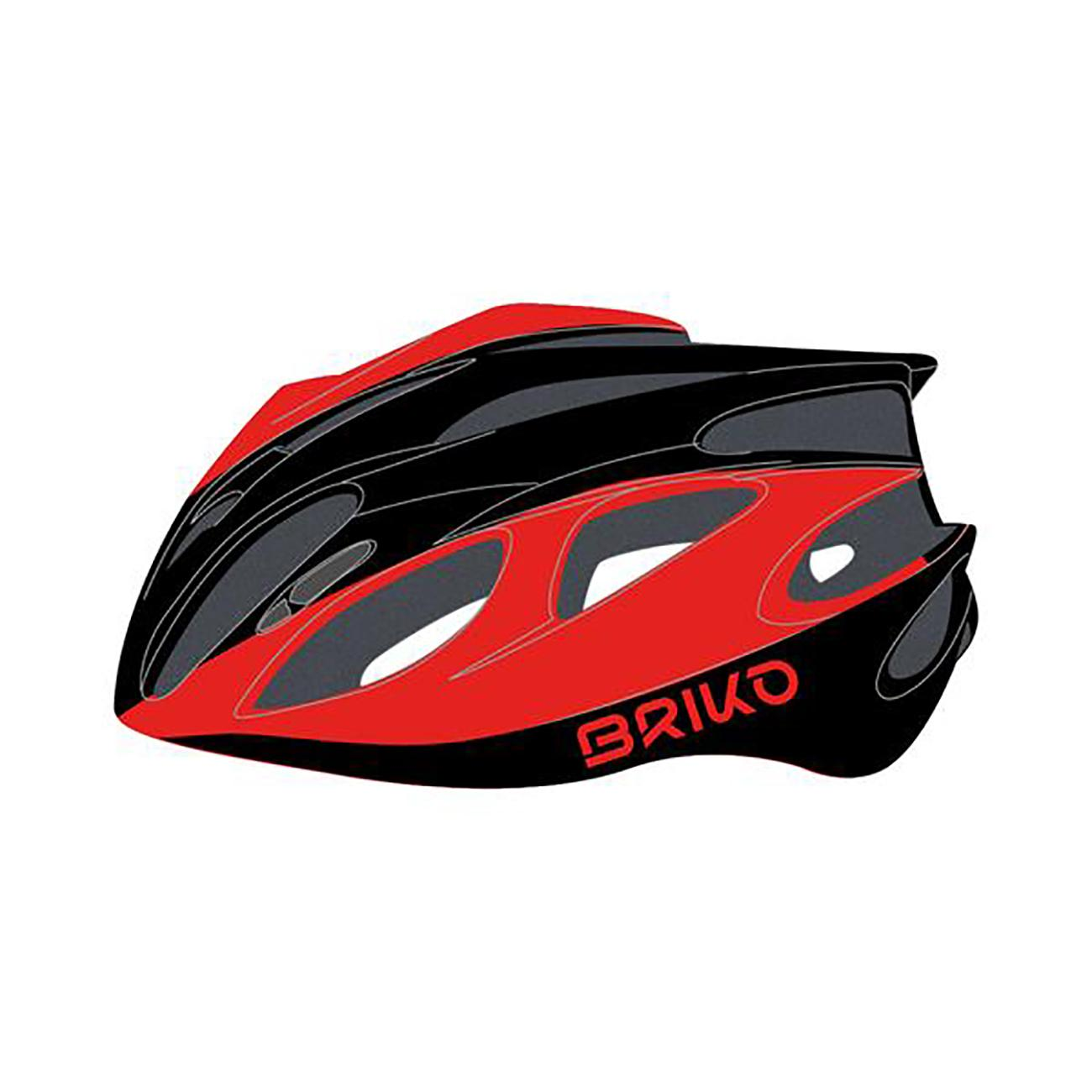 Briko Fietshelm Race unisex Zwart Rood - Kiso Bike Helmet Shiny Black Red