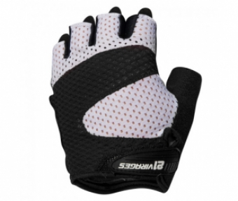21Virages fietshandschoenen zomer unisex Zwart Wit / Summer cycling glove Airflow Black white - M