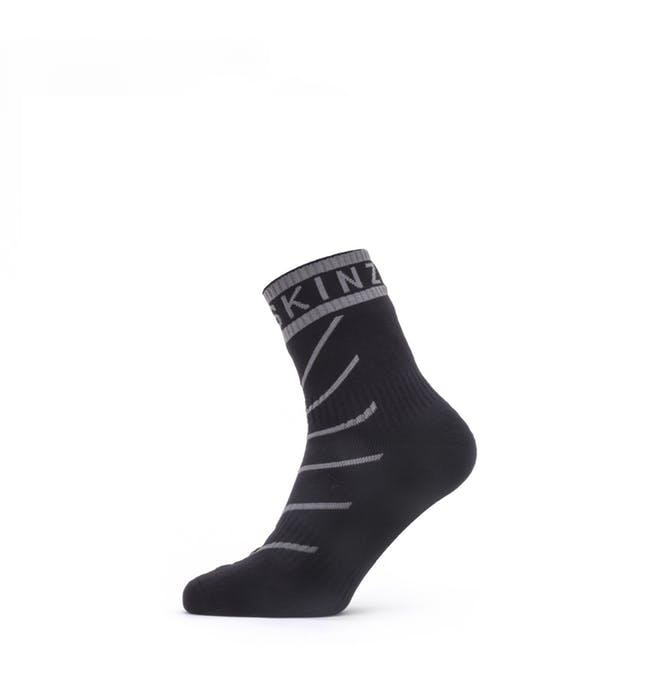 Sealskinz Fietssokken waterdicht voor Heren Zwart Grijs / Waterproof Warm Weather Ankle Length Sock with Hydrostop Black/Grey