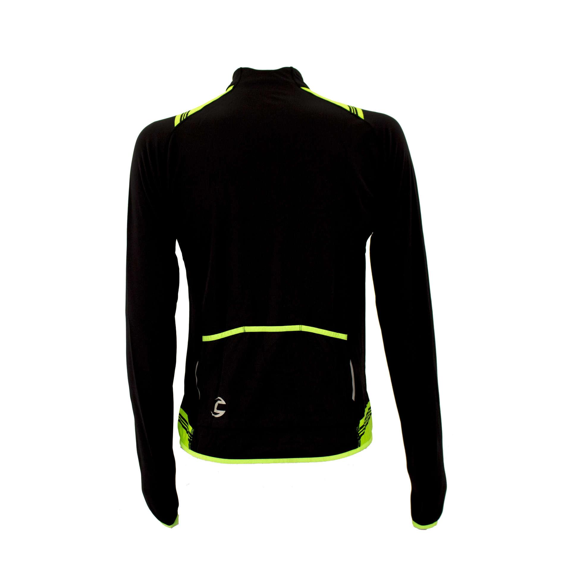 Afbeelding Cannondale midweight performance classic wielershirt lange mouw zwart groen