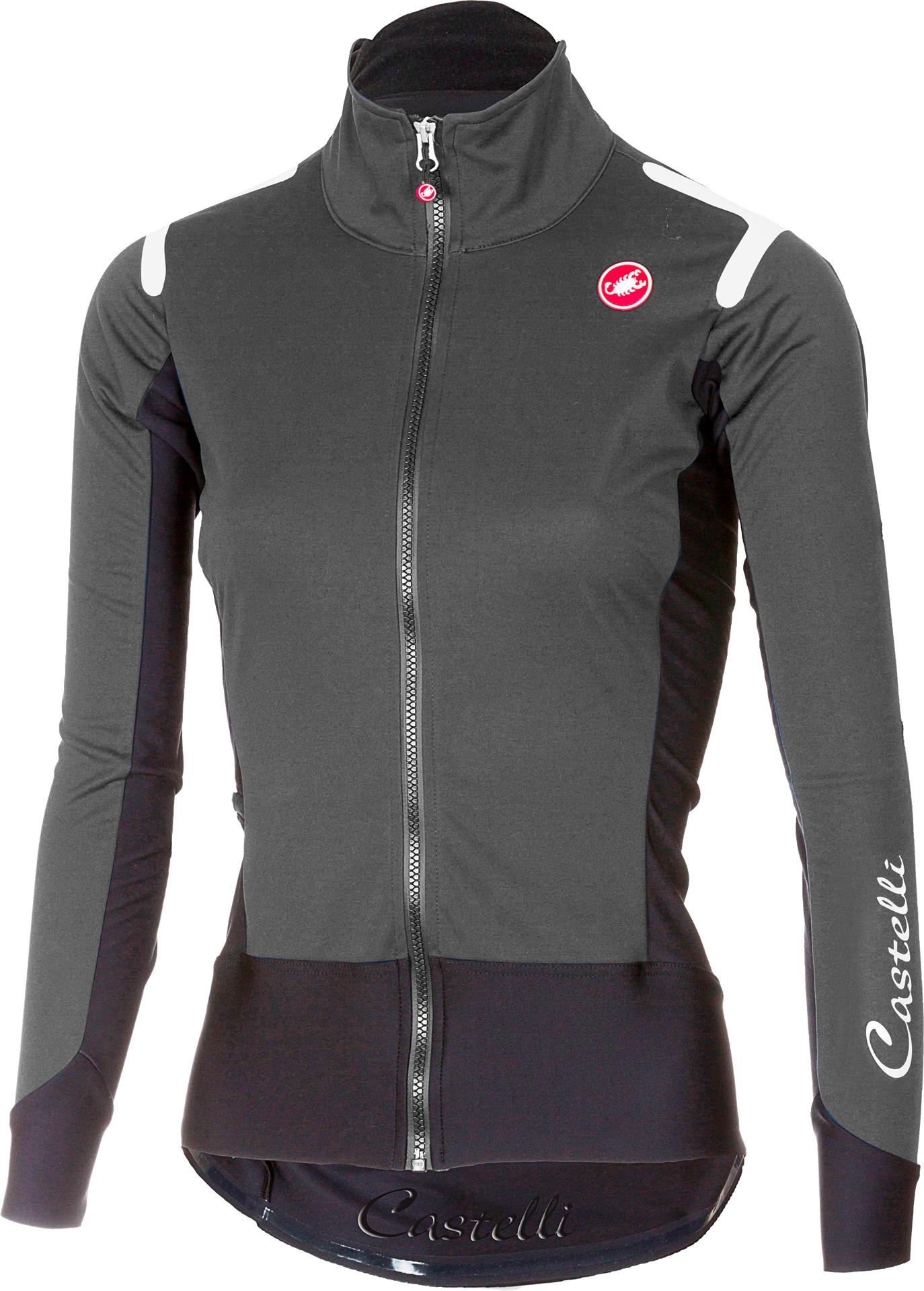 Castelli Fietsjack Dames Grijs Zwart / CA Alpha Ros W Light Jacket Dark Gray/Black