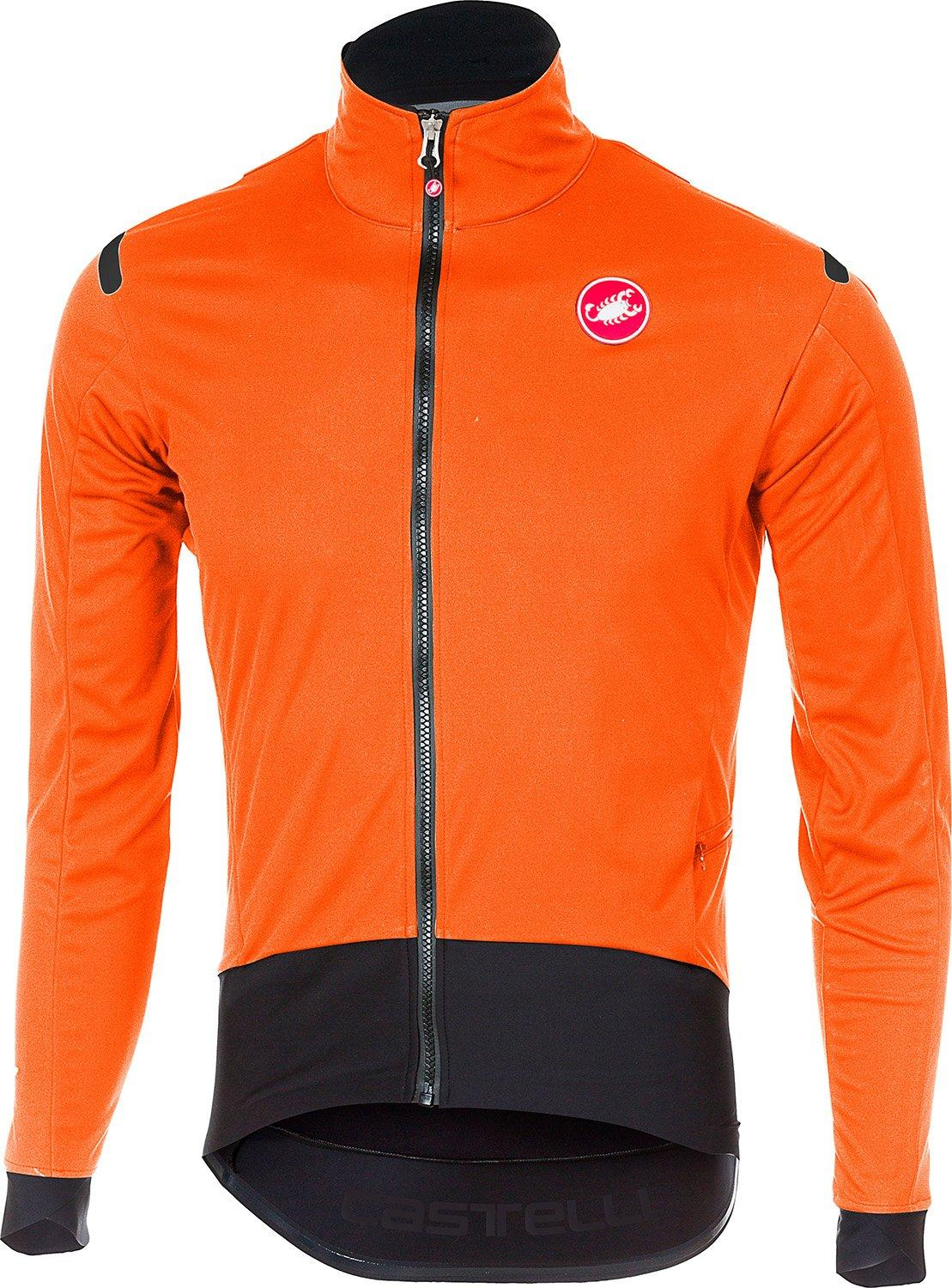 Castelli Fietsjack Heren Oranje Zwart / CA Alpha Ros Light Jacket Orange/Black