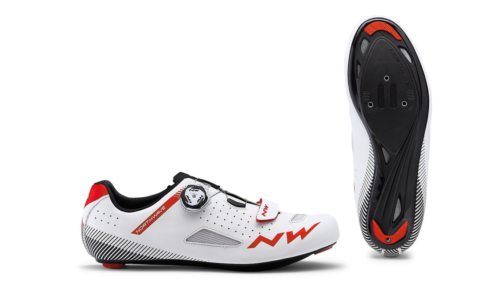 Afbeelding Northwave Race fietsschoenen Heren Wit Rood /  CORE PLUS WHITE/RED