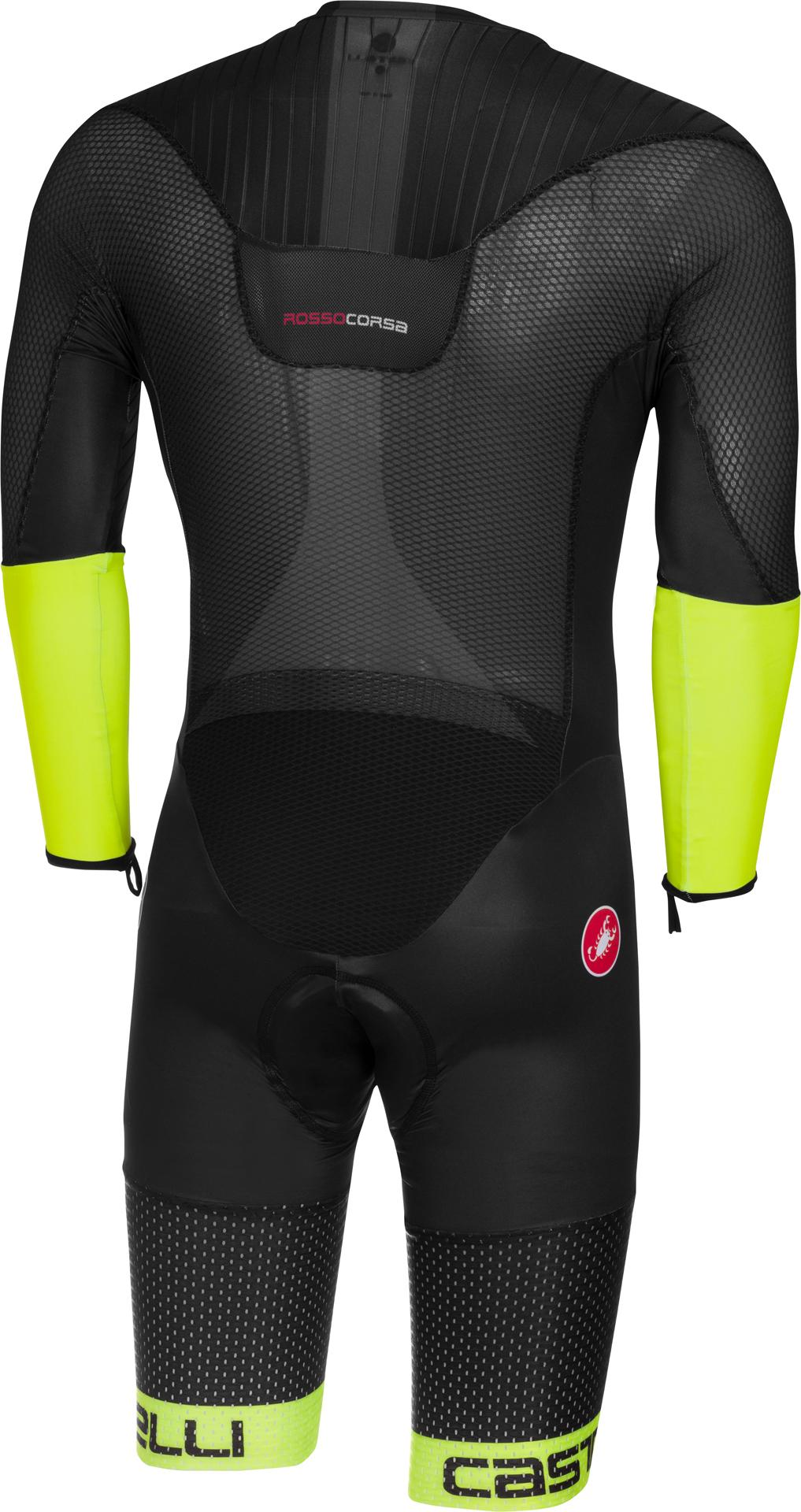 Afbeelding Castelli Snelpak Heren Zwart Fluo - CA Body Paint 3.3 Speed Suit LS-Black/Yellow Fluo