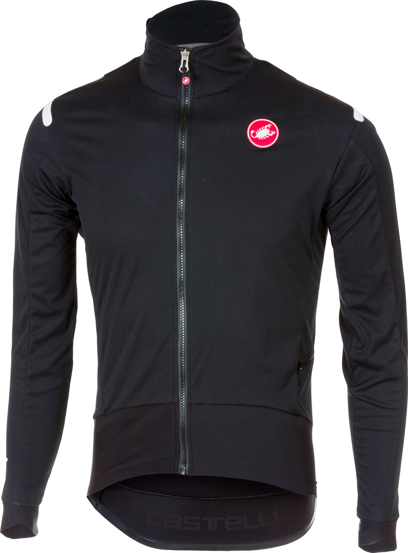 Castelli Fietsshirt lange mouwen Heren Zwart Zwart / CA Alpha Ros Light Jacket Light Black/Black