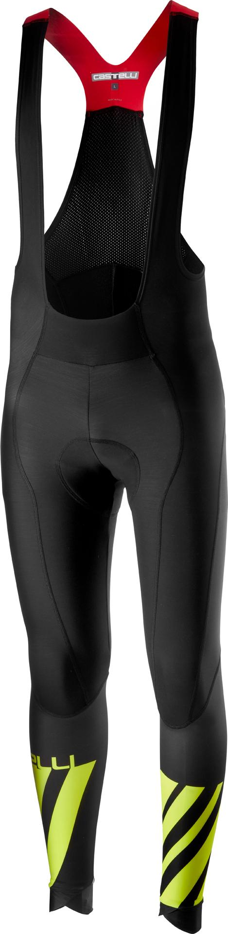 Castelli Fietsbroek lang Heren Zwart Fluo / CA Lw Bibtight Black/Yellow Fluo