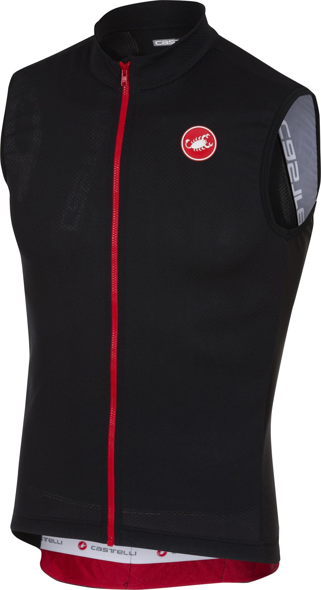 | Castelli Fietsshirt Heren Zwart / CA Entrata 3 Sleeveless FZ Light Black