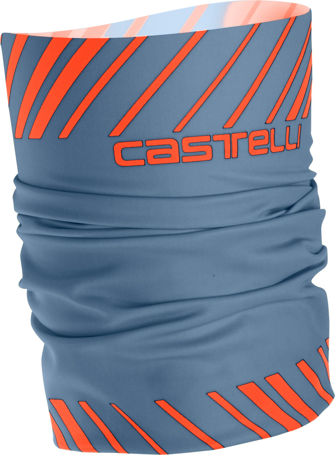 Castelli Bandana voor Heren Blauw Oranje / CA Arrivo 3 Thermo Head Thingy L Steel Blue/Orange