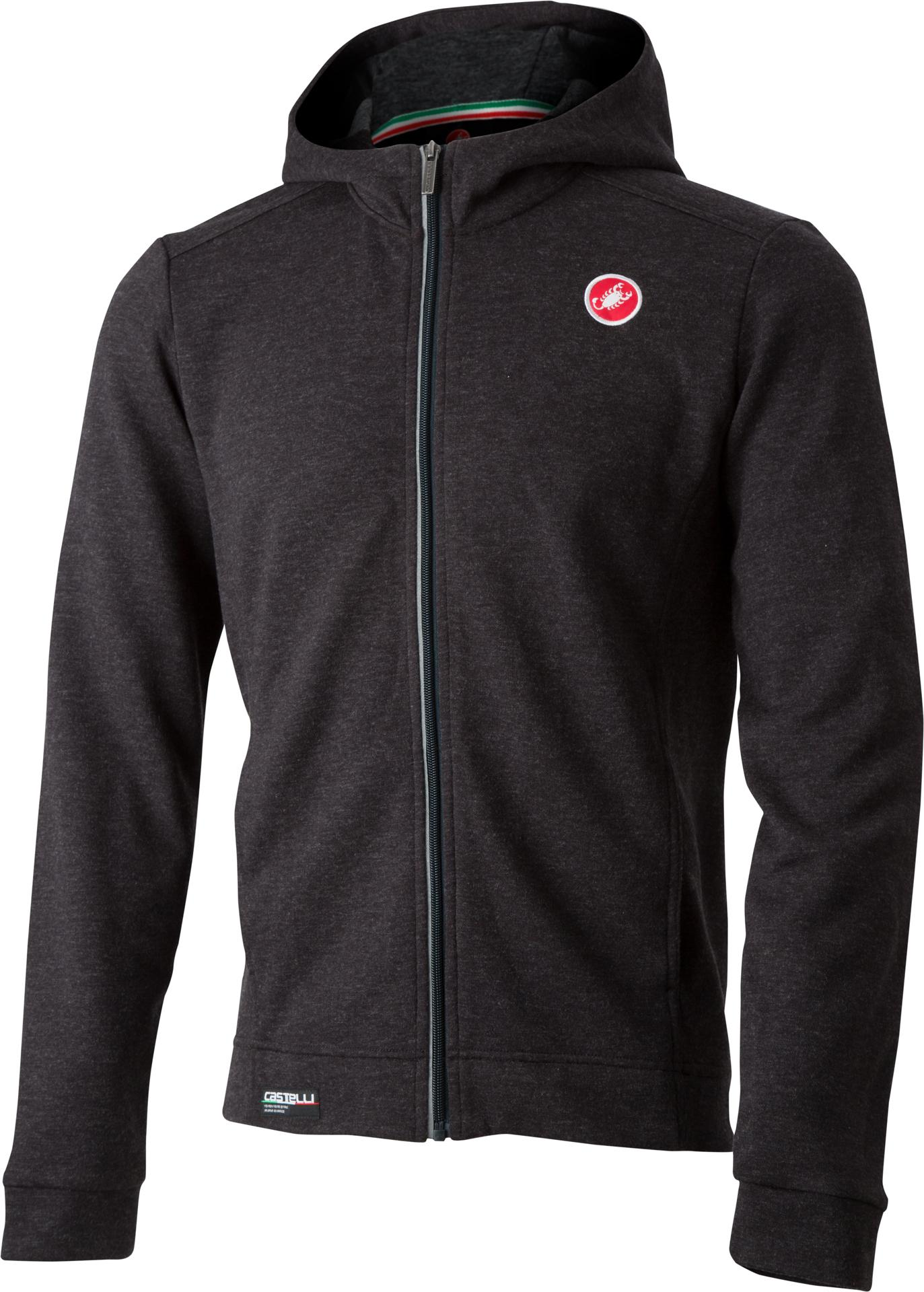 Castelli Casual kleding Heren Zwart  / CA Milano Full Zip Fleece Melange Light Black