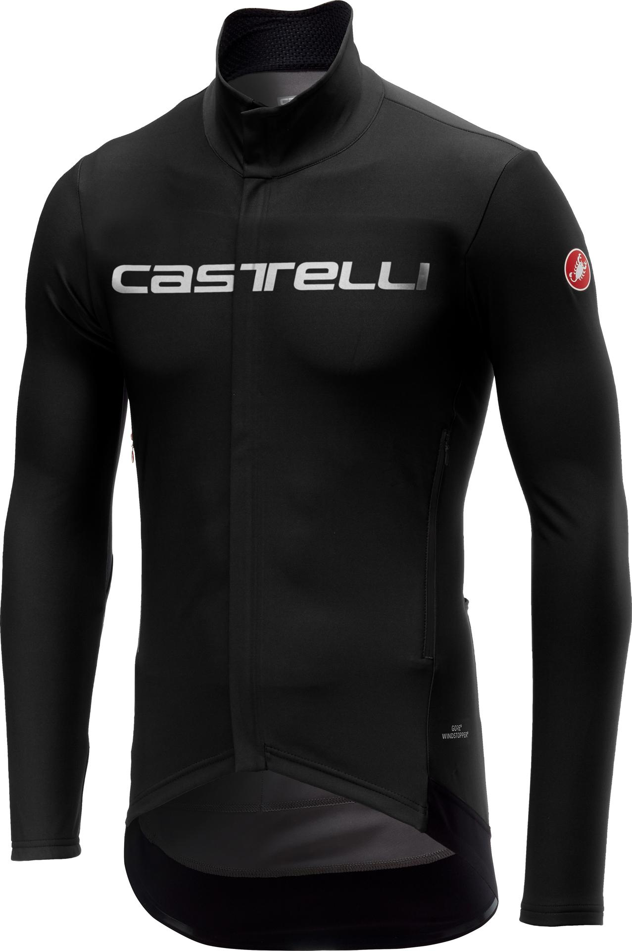 Castelli Fietsjack waterafstotend Heren Zwart  / CA Perfetto Long Sleeve Black