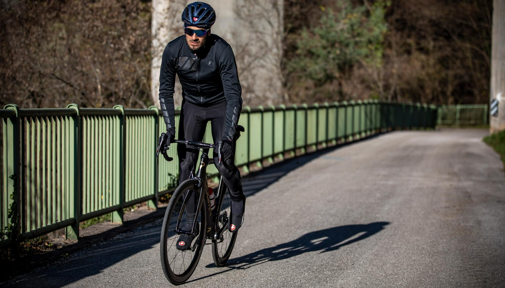 Castelli Fietsjack lange mouwen winter sterk waterafstotend voor Heren Zwart Reflective / CA Raddoppia 2 Jacket Light Black/Refelx