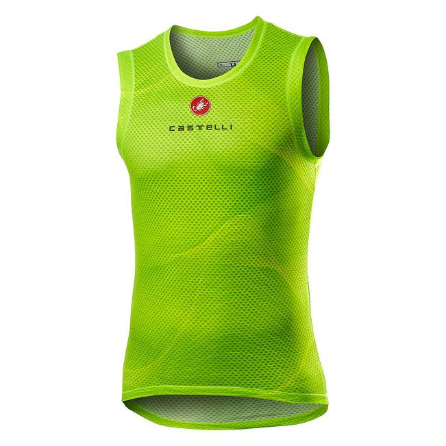 Castelli Ondershirt Heren Fluo - CA Pro Mesh Sleeveless Yellow Fluo