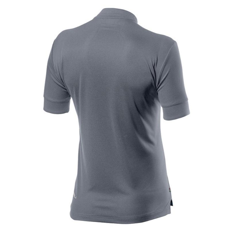 Castelli Casual Polo Heren Grijs - CA Tech Polo Silver Gray