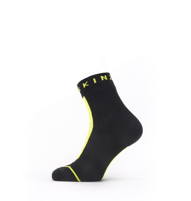 Afbeelding Sealskinz Fietssokken waterdicht voor Heren Zwart Fluo / Waterproof All Weather Ankle Length Sock with Hydrostop B