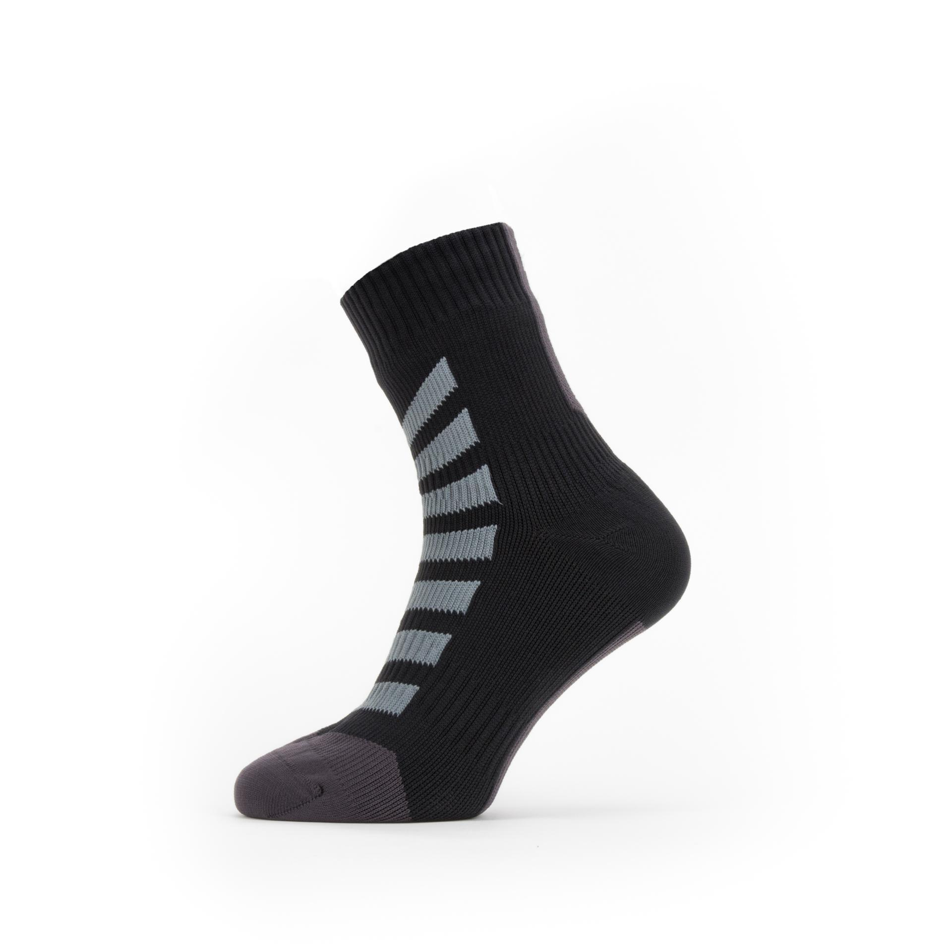 Afbeelding Sealskinz Fietssokken waterdicht voor Heren Zwart Grijs / Waterproof All Weather Ankle Length Sock with Hydrostop
