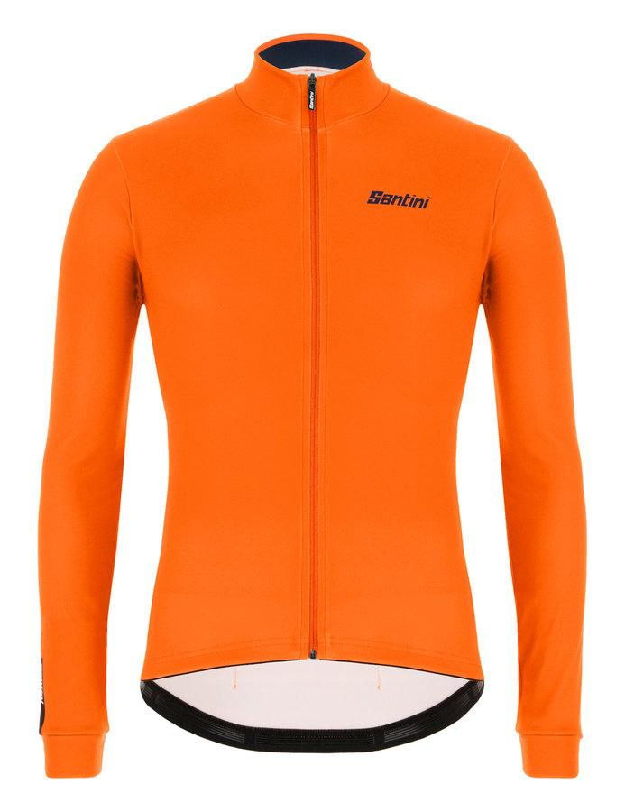 Santini Fietsshirt Lange mouwen Fluo Oranje Heren - Colore Winter L/S Jersey Orange Fluo