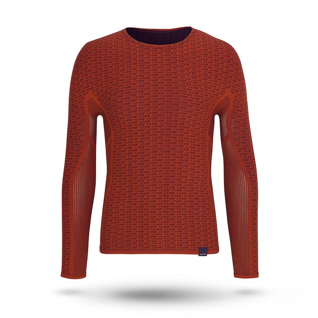GripGrab Ondershirt lange mouwen Unisex Rood / Freedom Seamless Thermal Base Layer LS