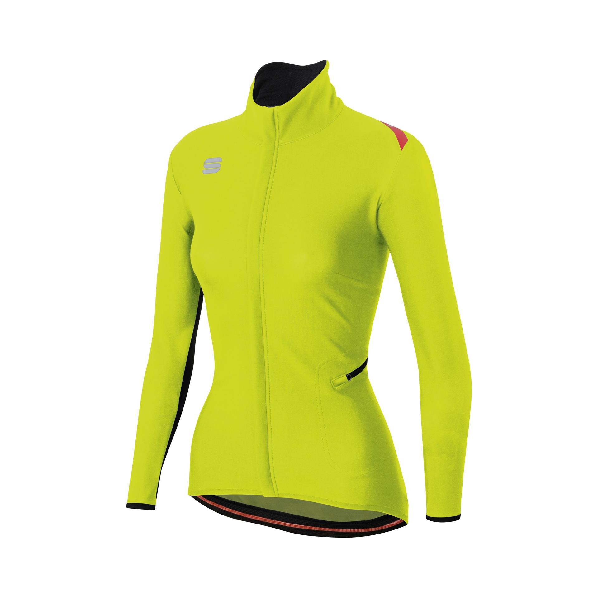 Afbeelding Sportful Fietsjack Dames fluo / SF Fiandre Light Ws W Jacket-Yellow Fluo/Black