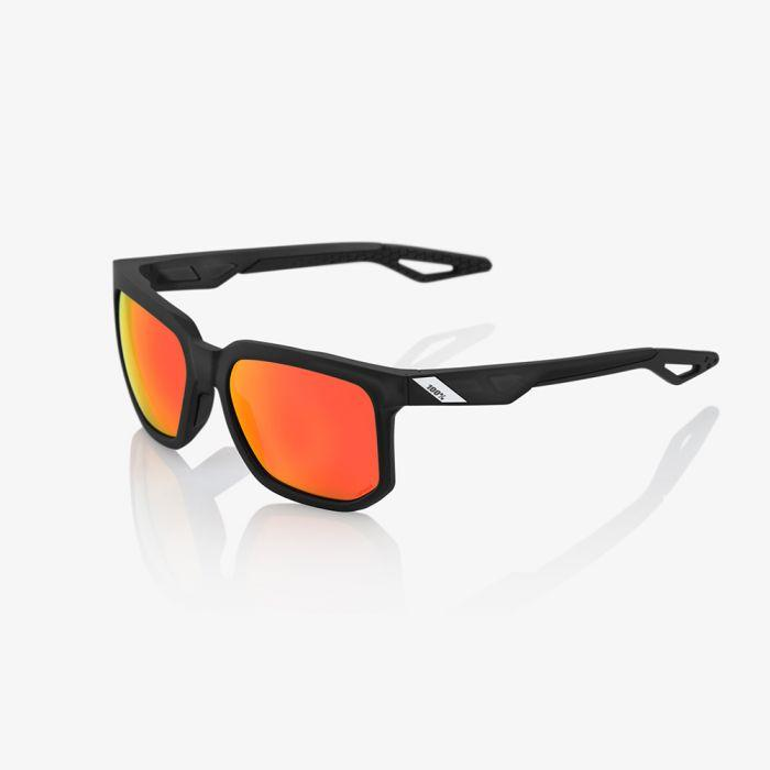 100% Casual Zonnebril / Centric Hiper Lens  Soft Tact Crystal Black