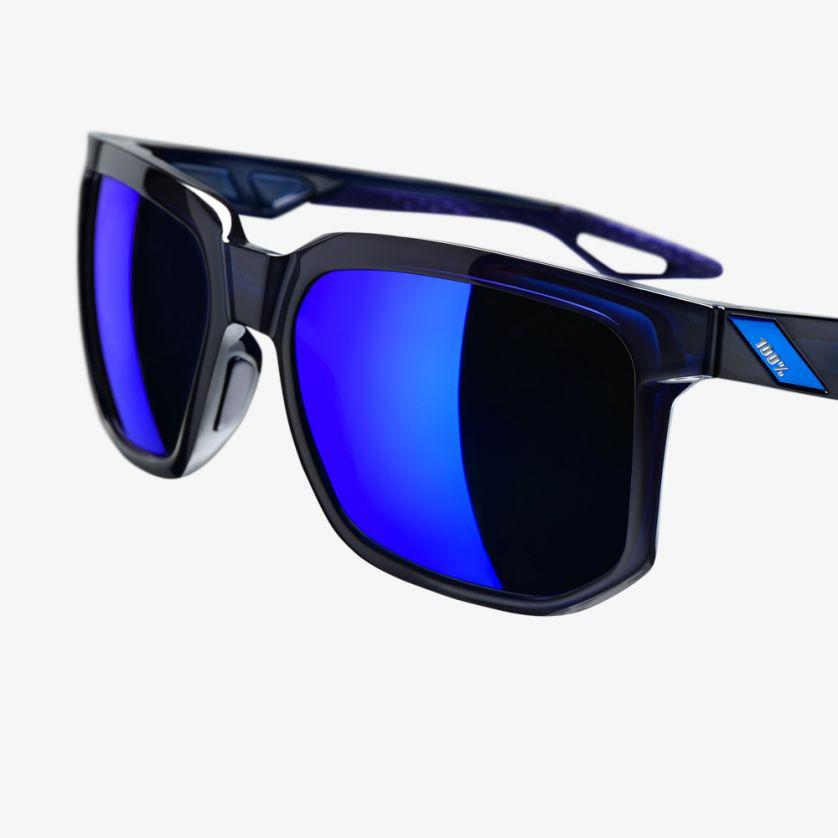 100% Casual Zonnebril / Centric Mirror Lens  Polished Blue