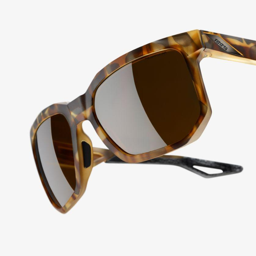 Afbeelding 100% Casual Zonnebril / Centric Peakpolar Lens  Soft Tact Havana
