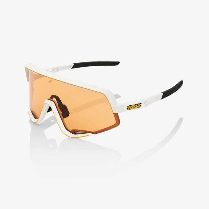 100% Fietsbril / Glendale Persimmon Lens Soft Tact Off White