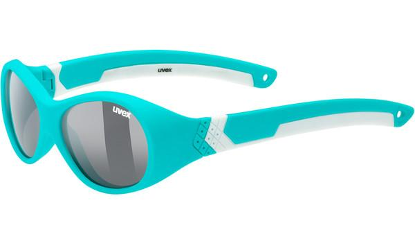 Uvex Fiets zonnebril sportstyle 510 unisex Turquoise Wit