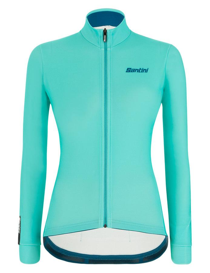 Afbeelding Santini Fietsshirt Lange mouwen Blauw Dames - Colore Winter L/S Jersey For Women Acqua Blue