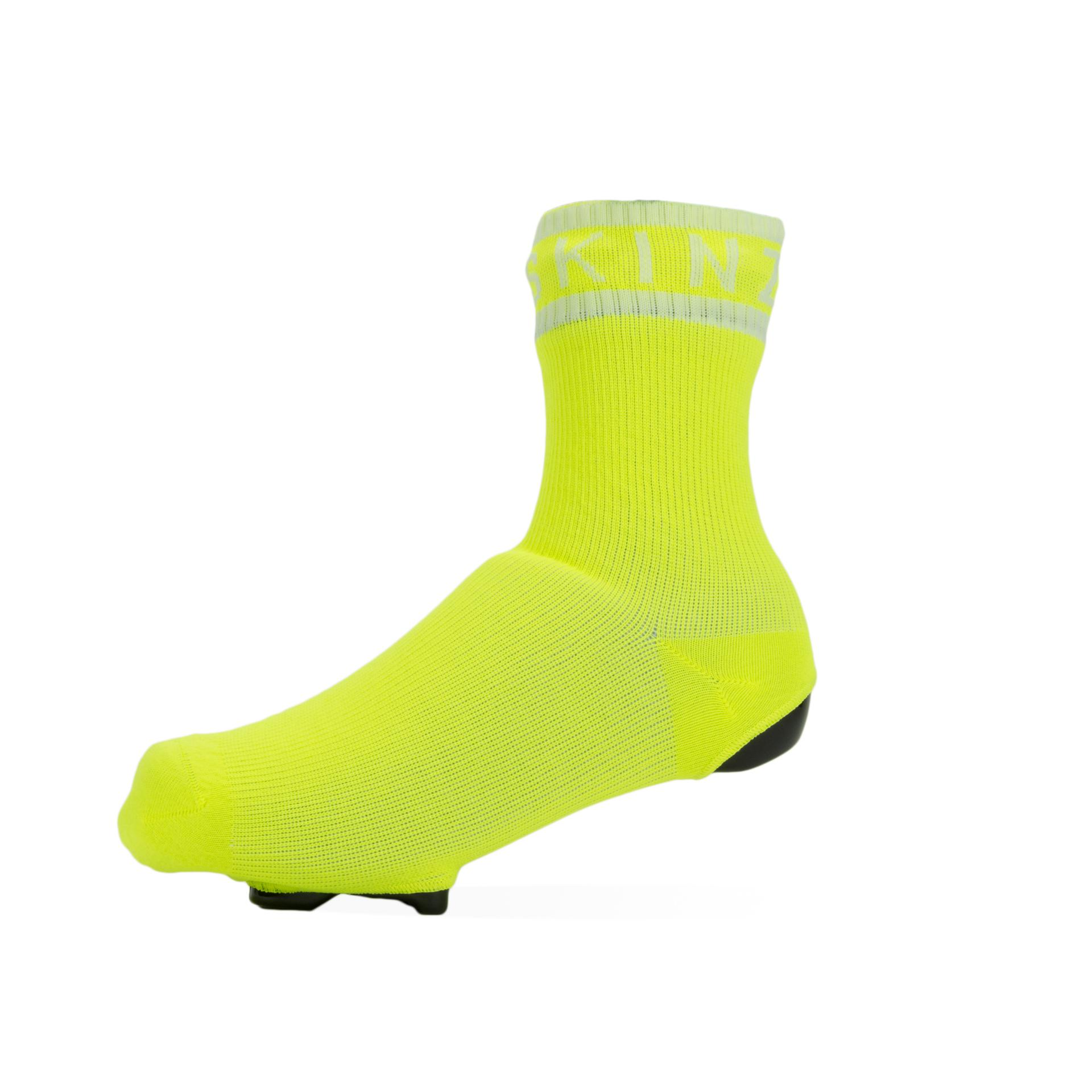 Afbeelding Sealskinz Fietssokken waterdicht voor Heren Fluo Wit / Waterproof All Weather Cycle Oversock Neon Yellow/White