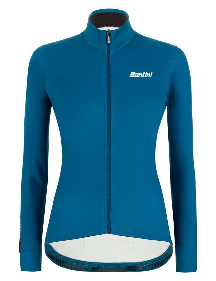 Santini Fietsshirt Lange mouwen Petrol Dames - Colore Winter L/S Jersey For Women Petrol Green