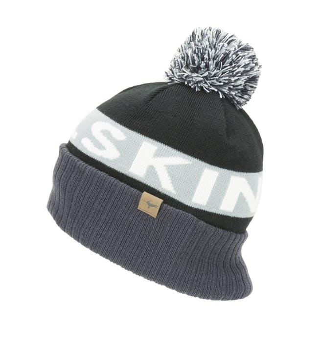 Afbeelding Sealskinz Casual muts  voor Heren Zwart Grijs / Water Repellent Cold Weather Bobble Hat Black/Grey/White/Black