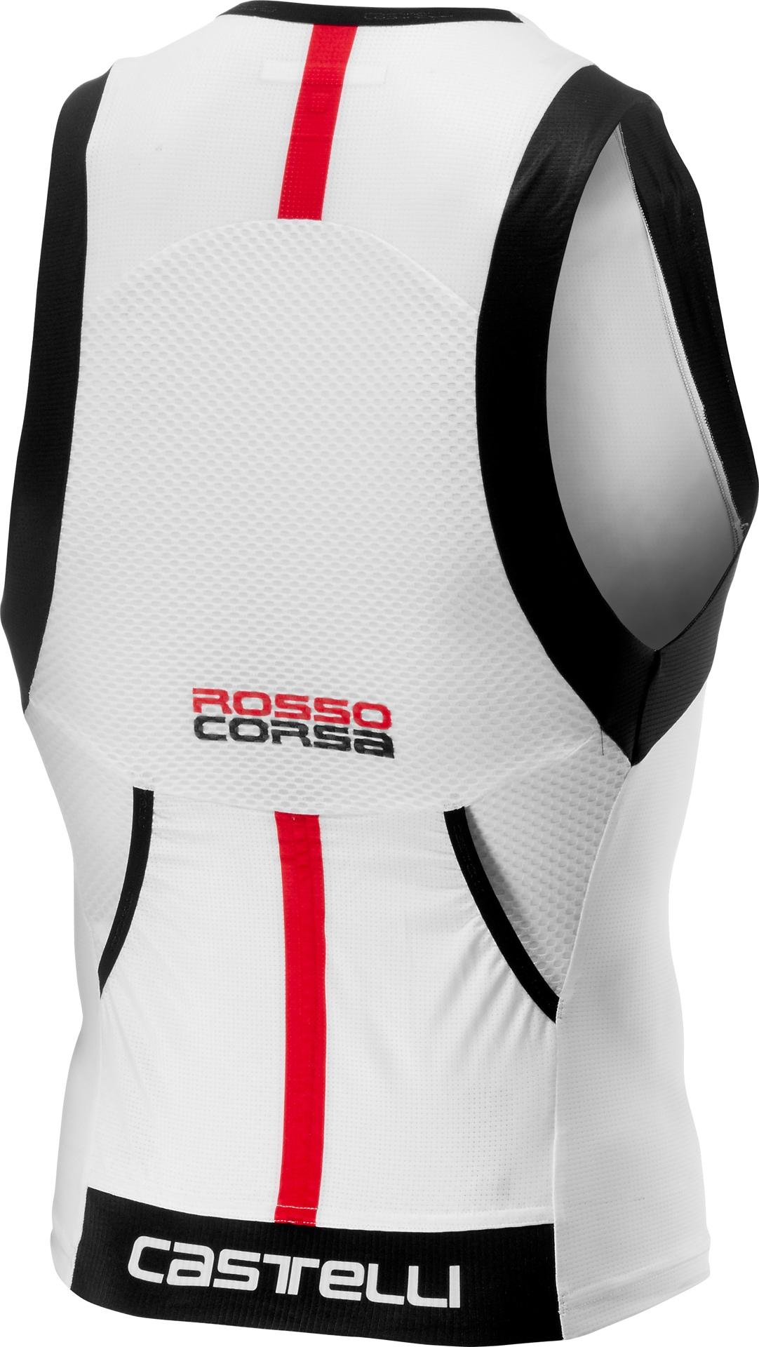 Castelli Triathlon Top Heren Wit  - CA Free Tri Top-White