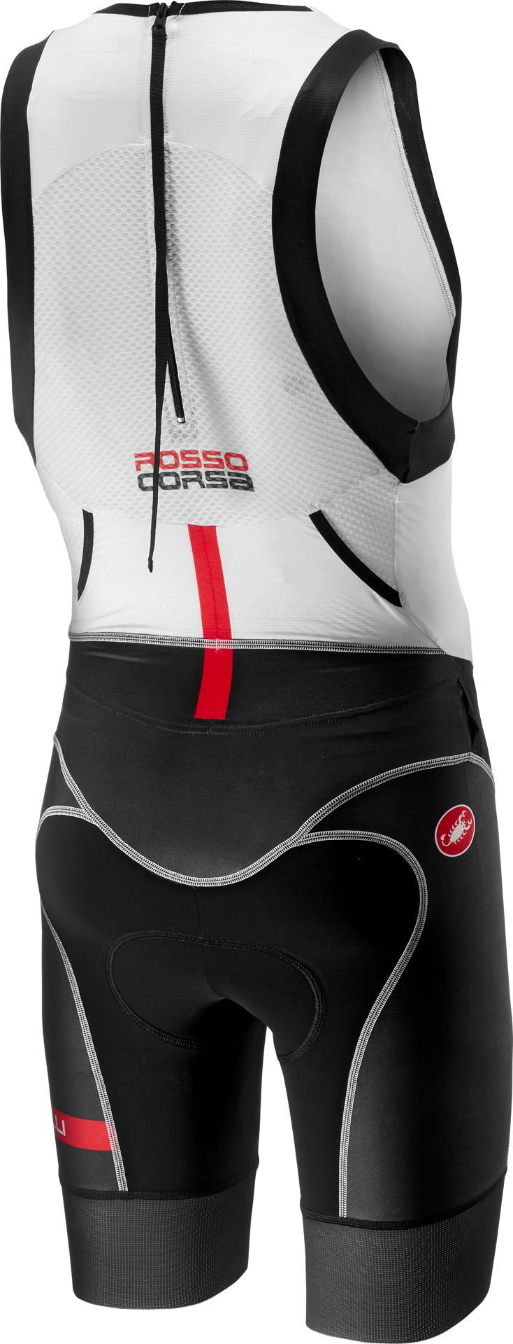 Castelli Triathlon pak Heren Wit Zwart - CA Free Tri Itu Suit-White/Black