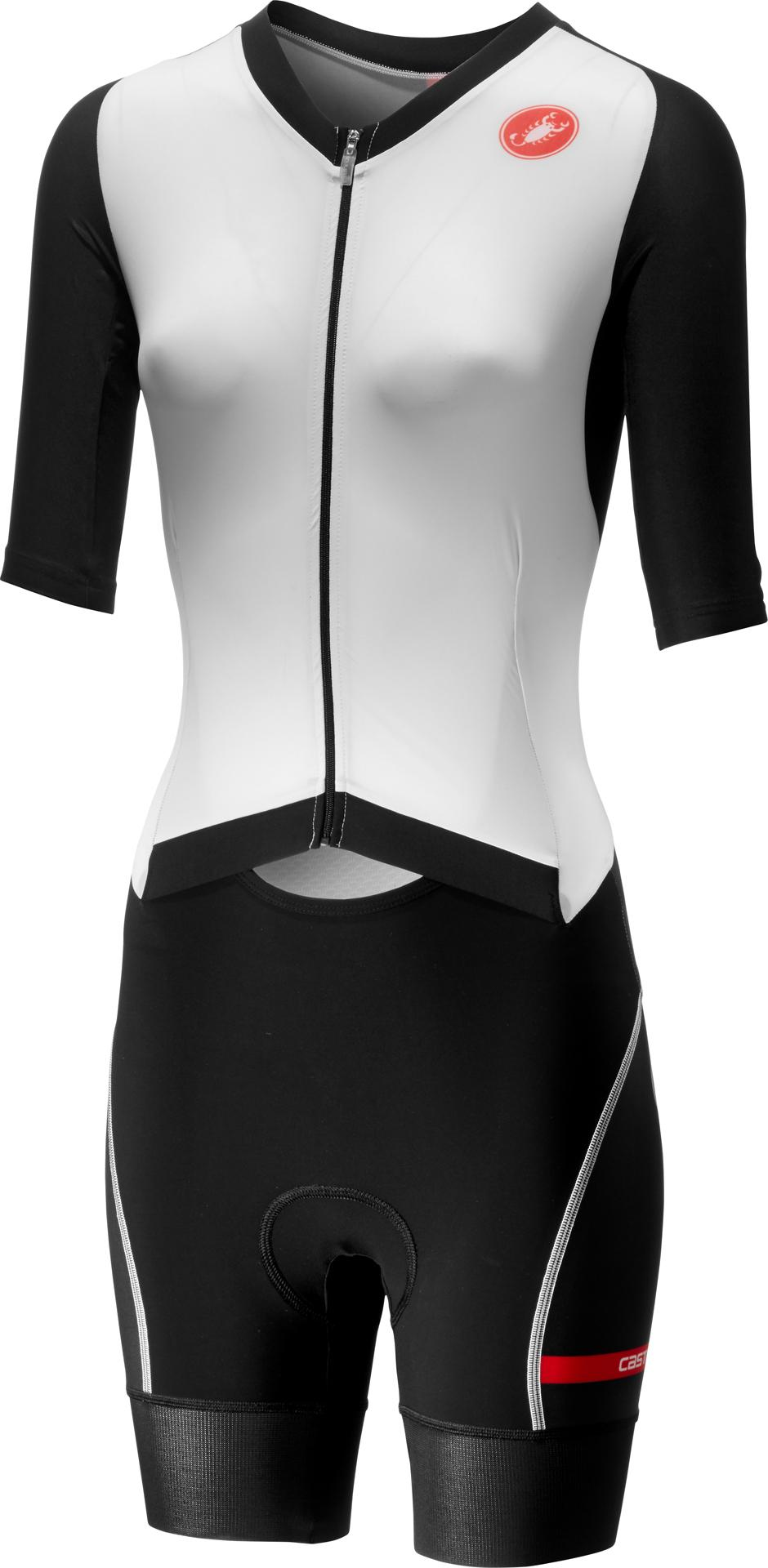 Castelli Snelpak Heren Wit Zwart - CA All Out W Speed Suit-White/Black