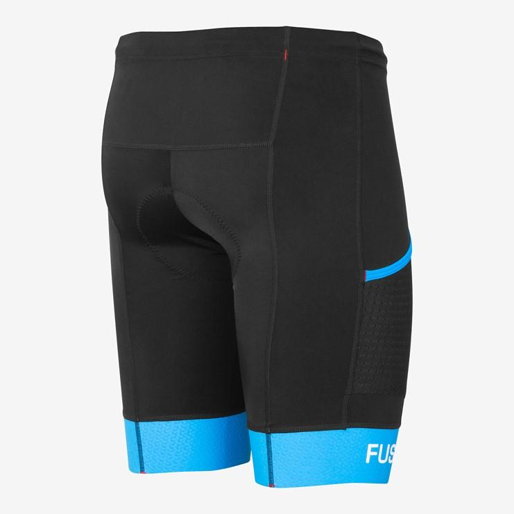 Fusion Triathlon broek zonder bretels Unisex Zwart / TRI PWR BAND POKT TIGHTS BLACK/SURF