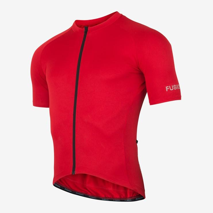 Afbeelding Fusion Fietsshirt Unisex Rood / C3 CYCLE JERSEY RED