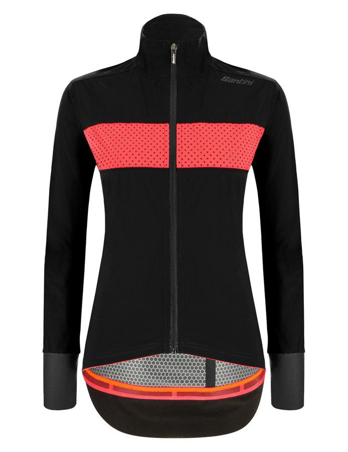 Afbeelding Santini Fietsjack lange mouwen Zwart Dames - Guard Mercurio Rain Jacket For Women Black