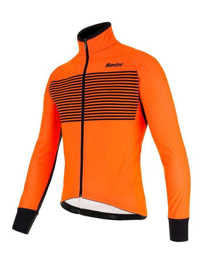 Afbeelding Santini Fietsjack lange mouwen Fluo Oranje Heren - Colore Winter Jacket Orange Fluo