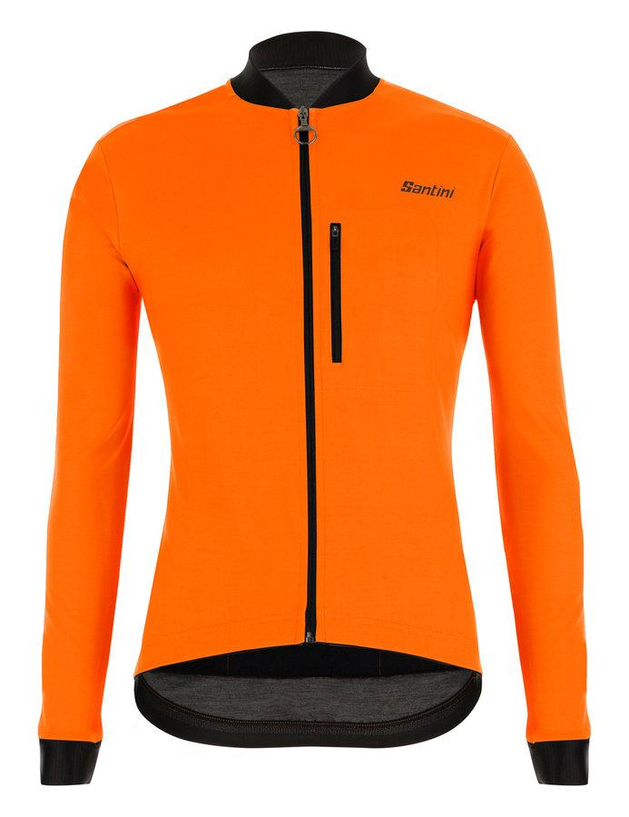 Afbeelding Santini Fietsjack lange mouwen Fluo Oranje Heren - Adapt Jacket Mid Weight Orange Fluo