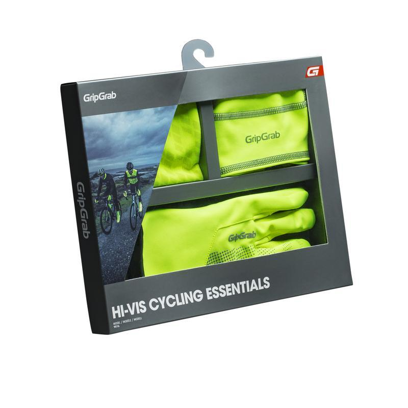 GripGrab Winteraccesoires Giftpack Unisex Fluo - Hi-Vis Cycling Essentials Yellow Hi-Vis